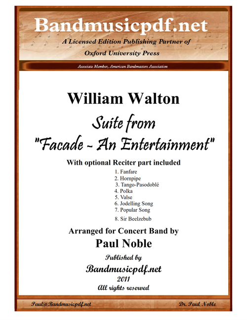 "Suite from ""Facade - An Entertainment"" in 8 movements"