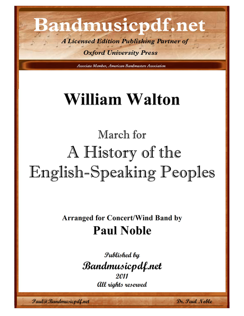 """March for """"A History of the English-Speaking Peoples"""""""