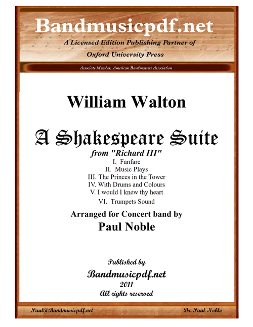 A Shakespeare Suite - Six Movements