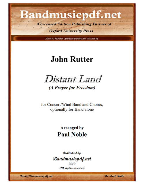 Distant Land, Version for Band and Chorus