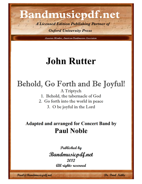 Behold, Go Forth and Be Joyful!