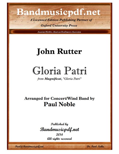 "Gloria Patri, from ""Magnificat"""