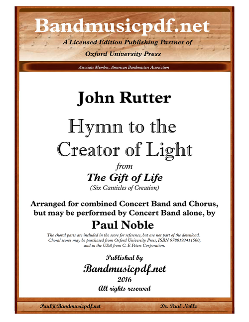 The Gift of Life 3. Hymn to the Creator of Light