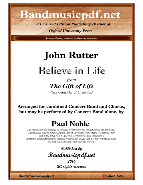 The Gift of Life 6. Believe in life