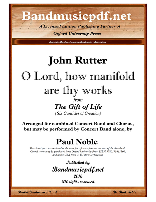 The Gift of Life 4. O Lord, how manifold are thy works