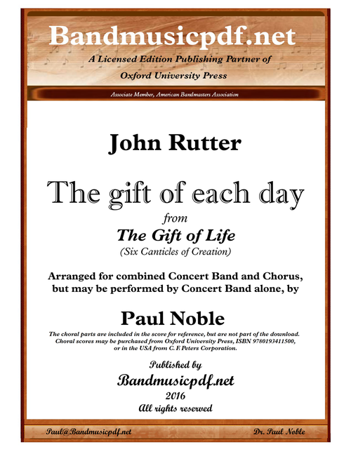 The Gift of Life 5. The gift of each day