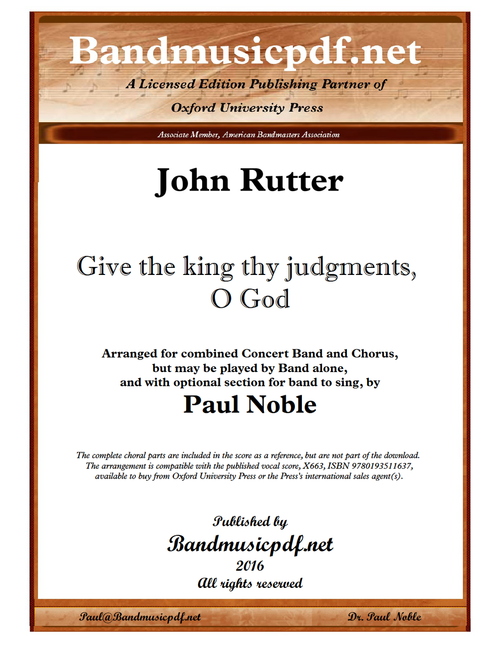 Give the king thy judgments, O God