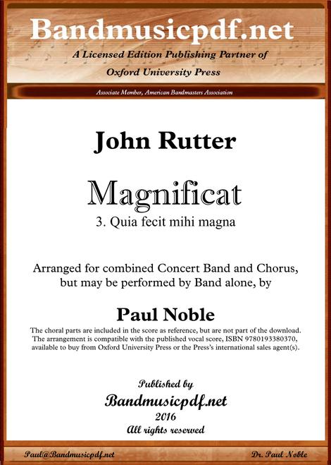 Magnificat 3. Quia fecit mihi magna
