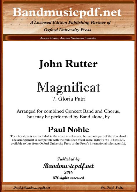 Magnificat 7.  Gloria Patri
