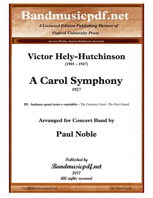 A Carol Symphony, 3rd Movement