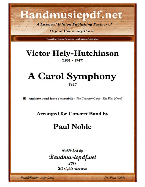 A Carol Symphony, 3rd Movement