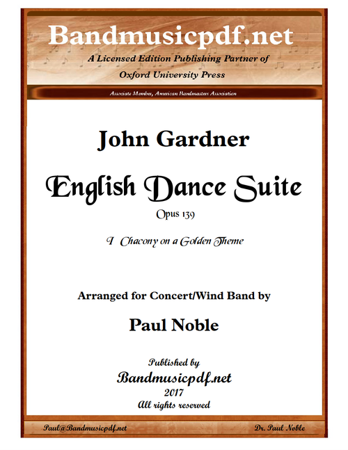 English Dance Suite - I Chacony on a Golden Theme