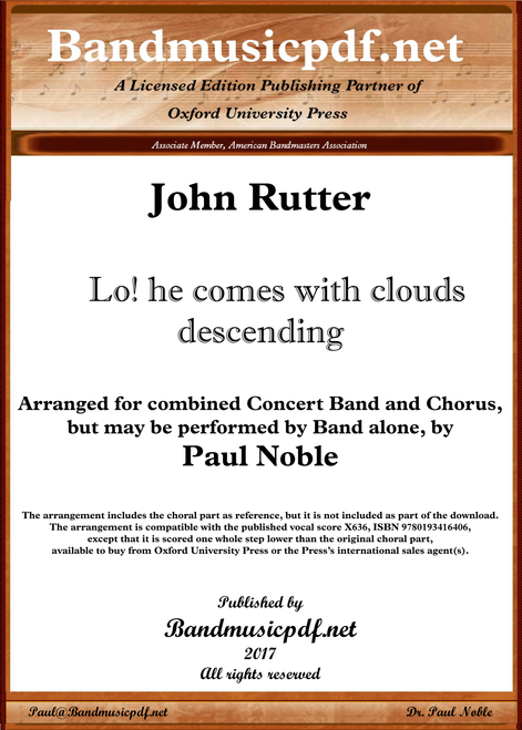 Lo! he comes with clouds descending - Rutter