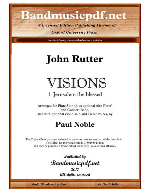 VISIONS 1. Jerusalem the blessed
