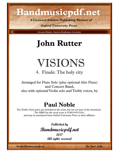 VISIONS 4. Finale: The holy city