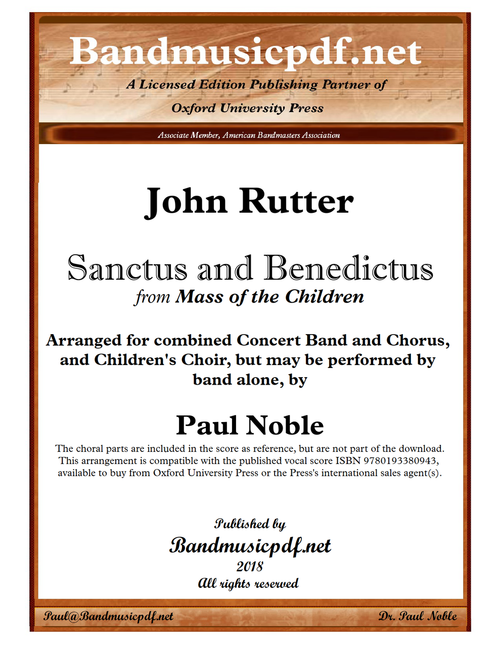 Sanctus and Benedictus, from Mass of the Children