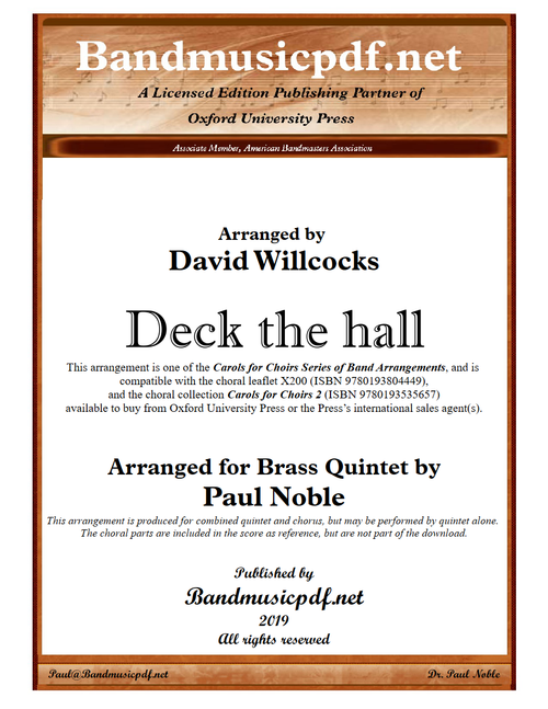 Deck the hall - Brass Quintet