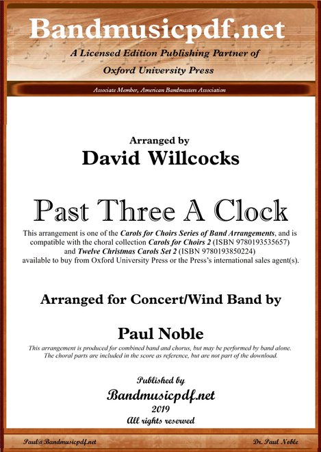 Past Three A Clock (A-major - Choral key)