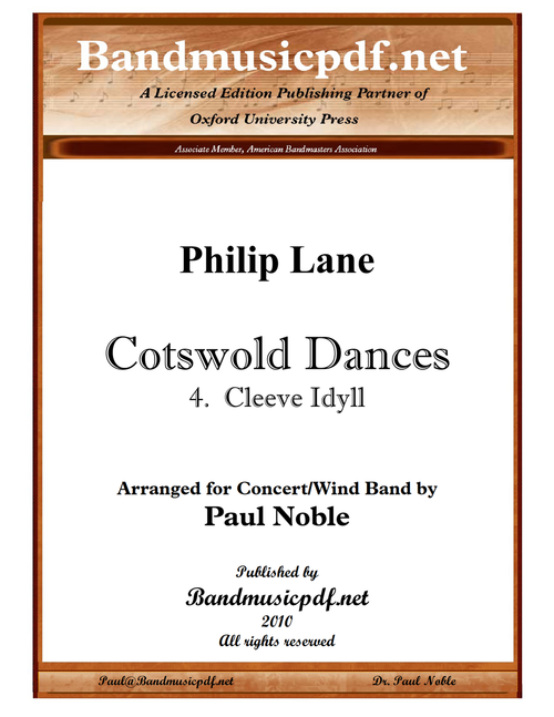 Cotswold Dances 4. Cleve Idyll