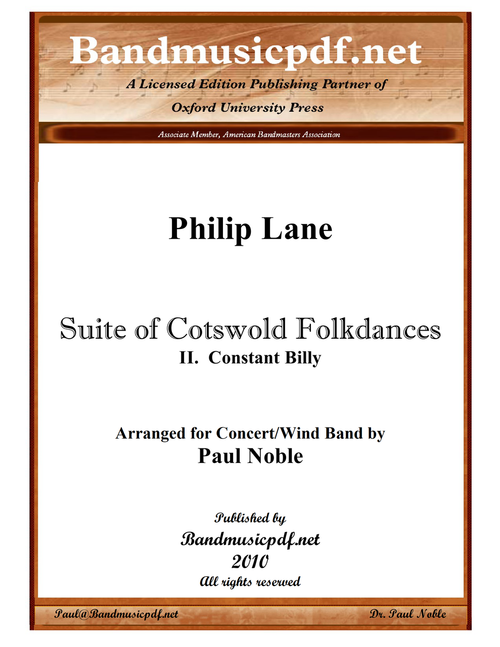 Suite of Cotswold Folkdances 2. Constant Billy