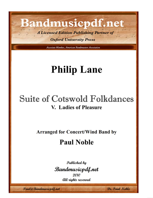 Suite of Cotswold Folkdances 5. Ladies of Pleasure