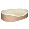 """Medium  Dog Bed King Original Cuddler Pet Bed. Beige/Imitation Lambswool. Machine Washable Cover. Free Shipping. 27 x 21 x 7"""". Pets Up To 35 lbs."""