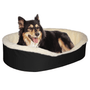 "Medium  Dog Bed King Original Cuddler Pet Bed. Black/Imitation Lambswool. Machine Washable Cover. Free Shipping. 27 x 21 x 7"". Pets Up To 35 lbs."