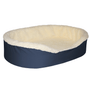 """Extra Large Dog Bed King Original Cuddler Pet Bed. Navy/Imitation Lambswool. Machine Washable Cover. Free Shipping. 39 x 28 x 7"""" Pets Up To 100 lbs"""