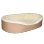 """Large  Dog Bed King Original Cuddler Pet Bed. Beige/Imitation Lambswool. Machine Washable Cover. Free Shipping. 33 x 23 x 7"""". Pets Up To 50 lbs"""