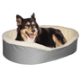 "Medium  Dog Bed King Original Cuddler Pet Bed. Gray/Imitation Lambswool. Machine Washable Cover. Free Shipping. 27 x 21 x 7"". Pets Up To 35 lbs."
