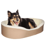 "Medium  Dog Bed King Original Cuddler Pet Bed. Beige/Imitation Lambswool. Machine Washable Cover. Free Shipping. 27 x 21 x 7"". Pets Up To 35 lbs."