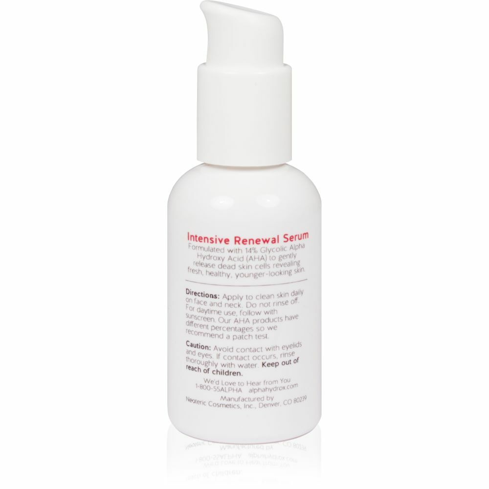 Product Shot Back Alpha Skin Care Intensive Renewal Serum
