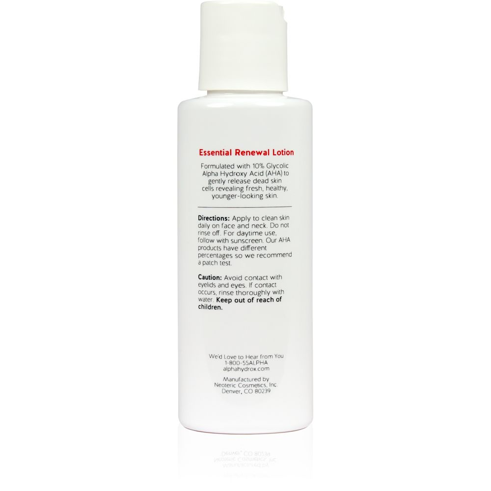 Product Shot Back Alpha Skin Care Essential Renewal Lotion