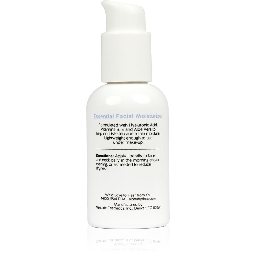 Product Shot Back Alpha Skin Care Essential Facial Moisturizer