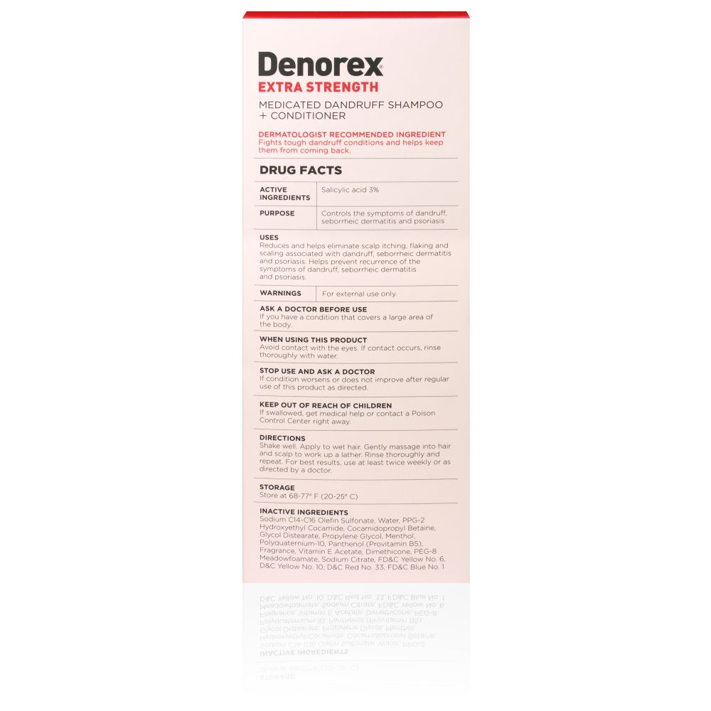 Box Shot Back Denorex Extra Strength