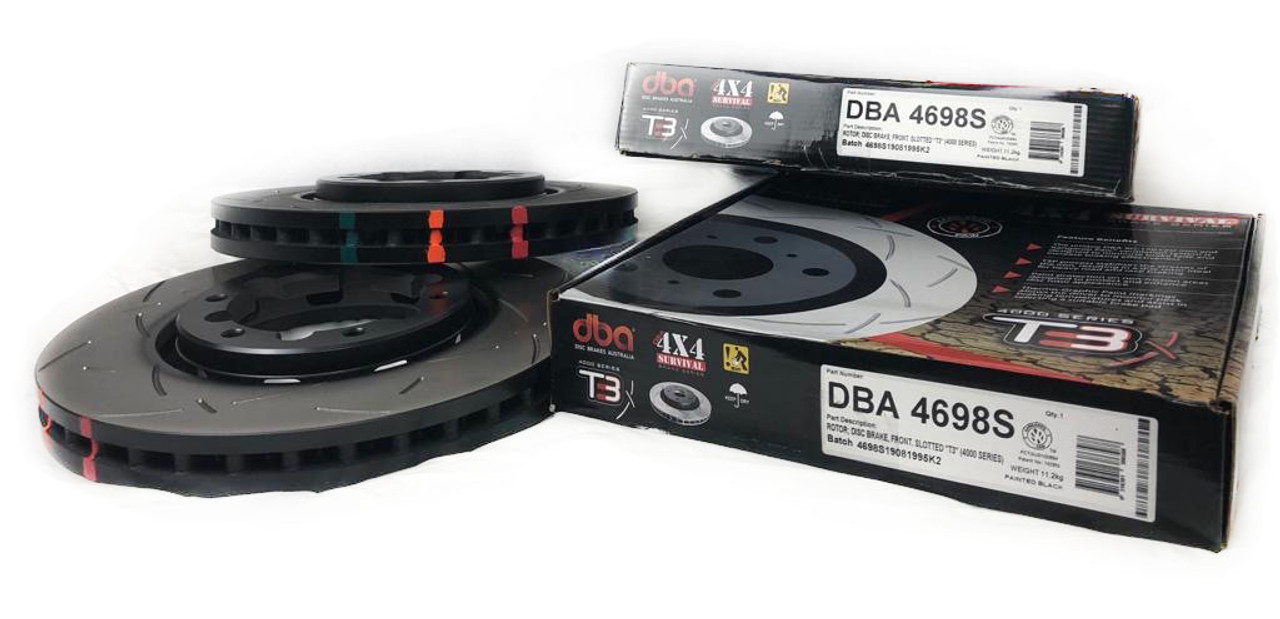 Patrol Y61 DBA T3 Front Slotted Brake Rotor Set