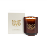 WHITE | L TRANSPARENT AMBER JAR