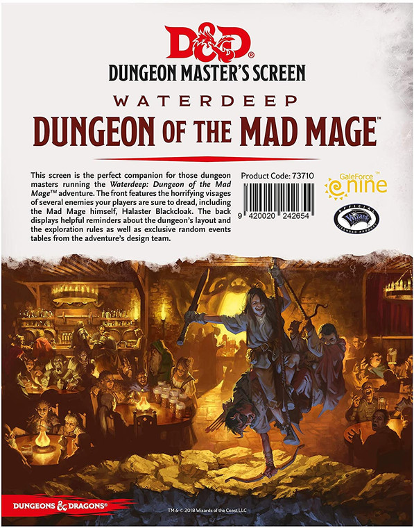 D&D 5E: Waterdeep Dungeon of the Mad Mage: Dungeon Masters Screen