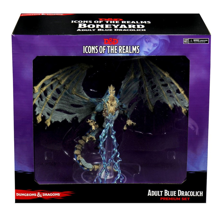 D&D Icons of the Realms: Boneyard - Adult Blue Dracolich