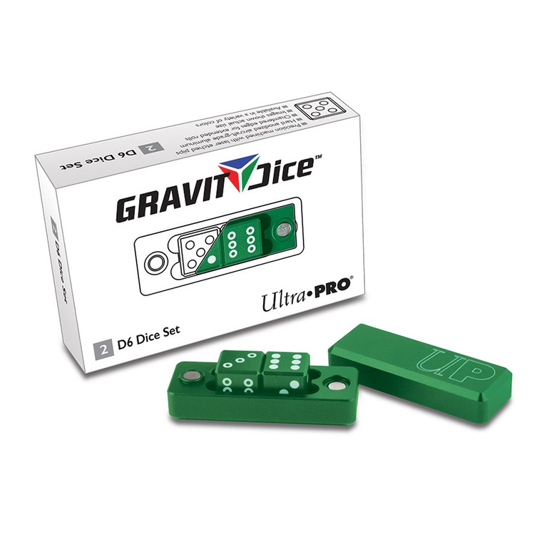 Gravity Dice 2D6 Set: Emerald