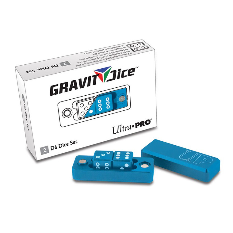 Gravity Dice 2D6 Set: Cobalt