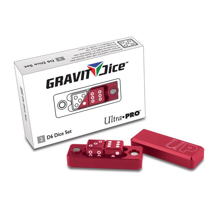Gravity Dice 2D6 Set: Crimson