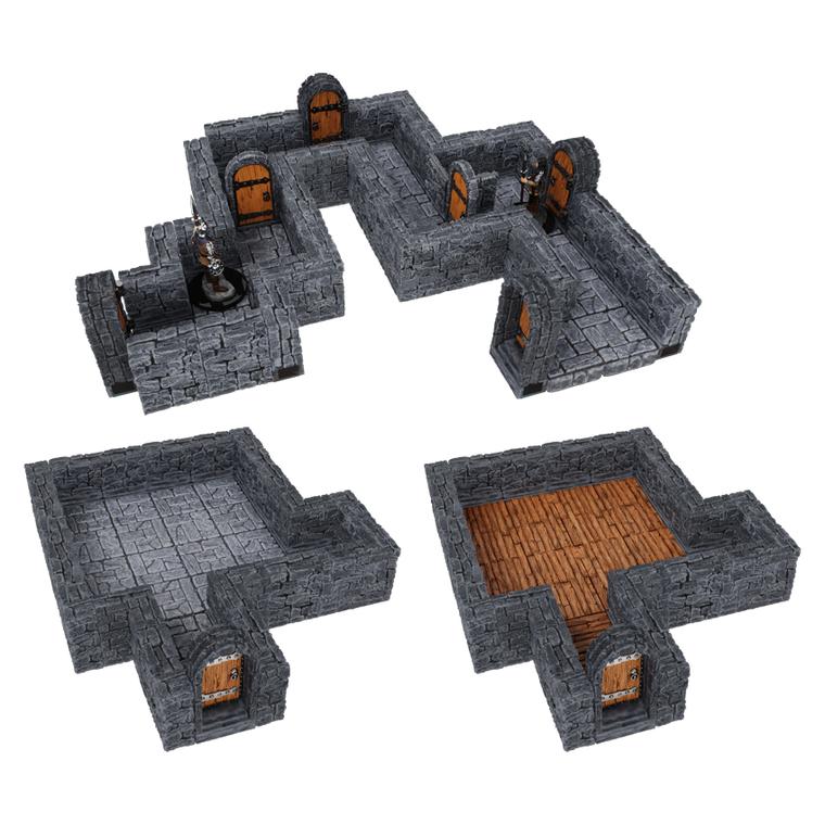 "WarLock Tiles: Dungeon Tiles Expansion - 1"" Straight Walls"