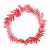 Couture Creations/Anna Griffin Hot Foil Stamp - Wild Wreath Frame CO725533