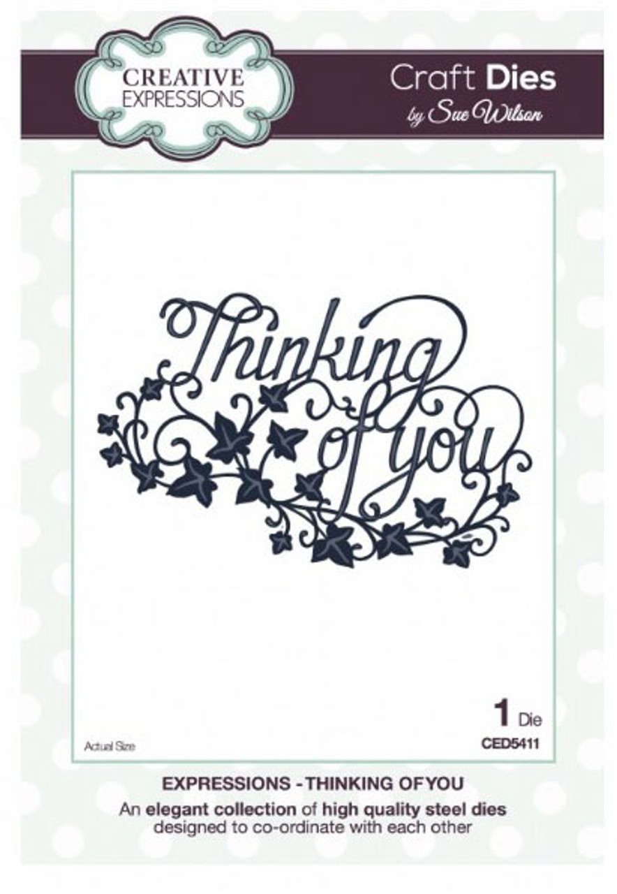 Sue Wilson - Expressions Collection - Thinking of You Die CED5411 - 15% Off