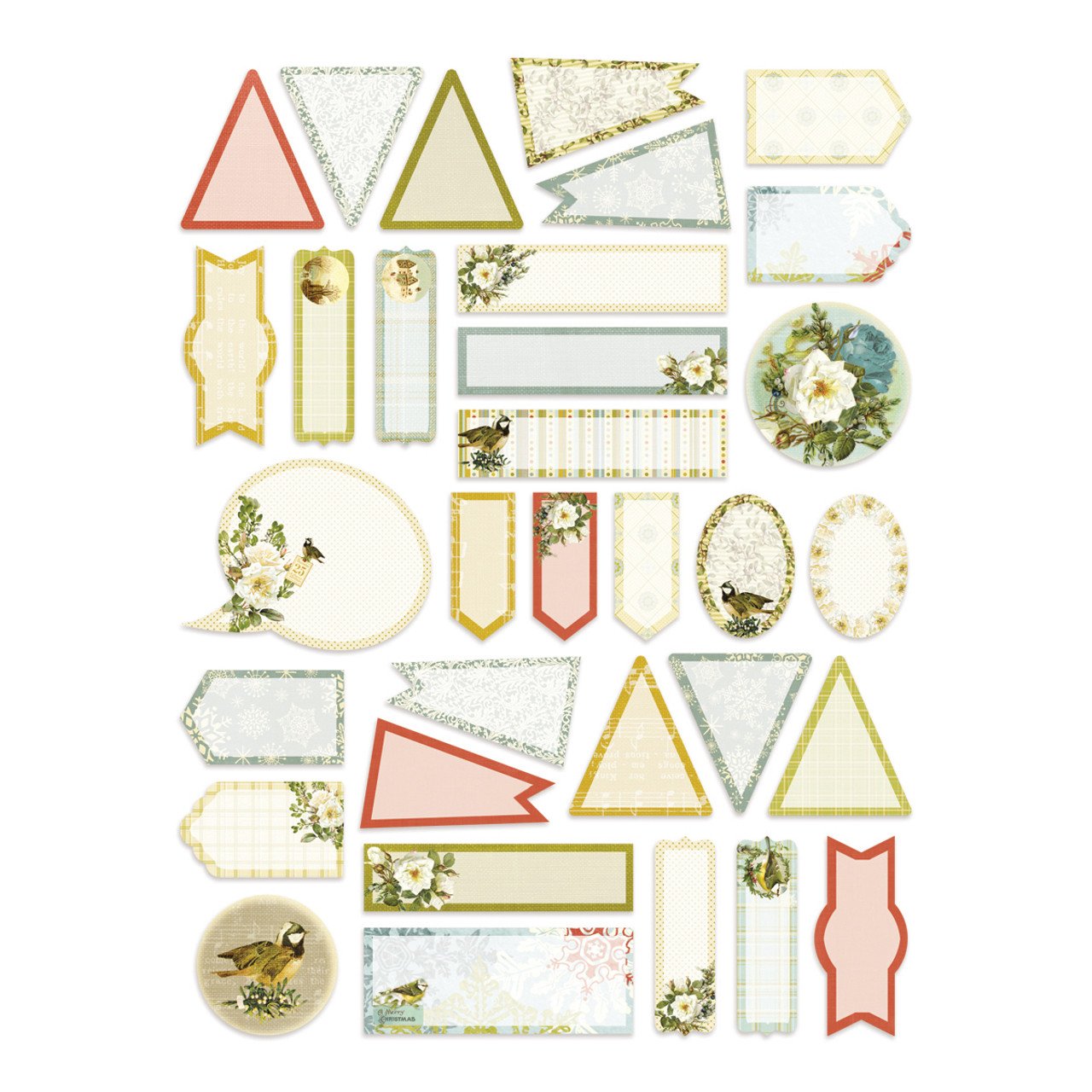 Couture Creations Mini Tag Stickers - Let Every Day Be Christmas (CO725491)