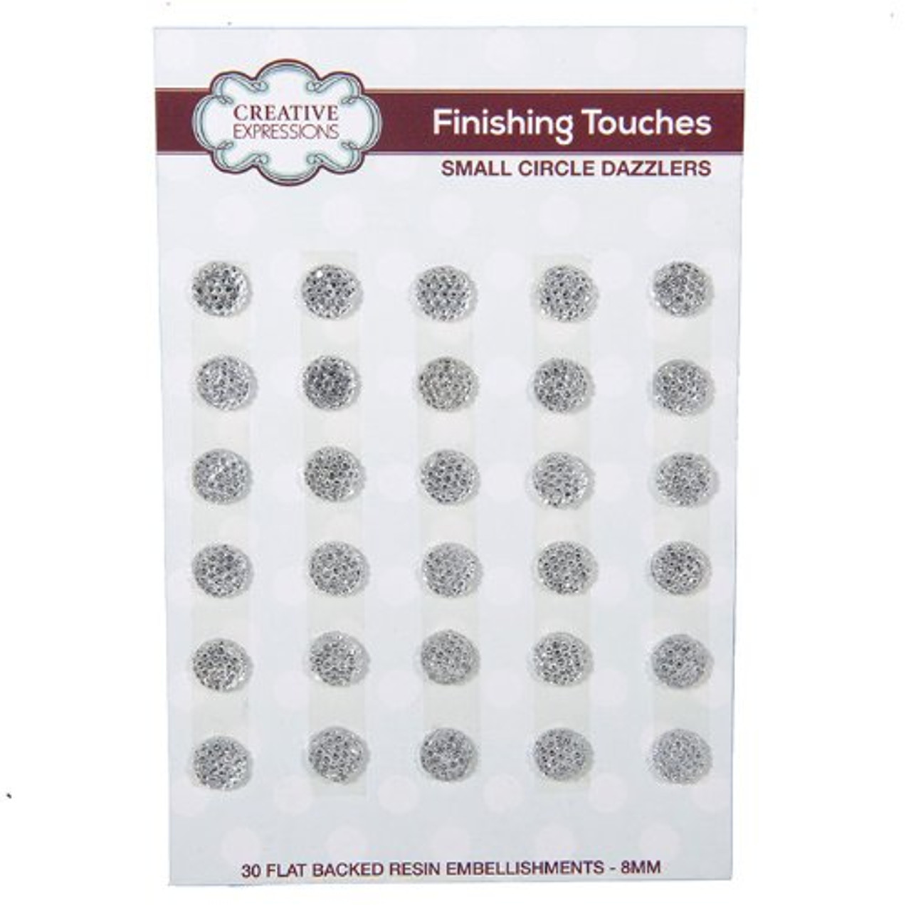 Creative Expressions Small Circle Dazzlers 8mm Pk 30