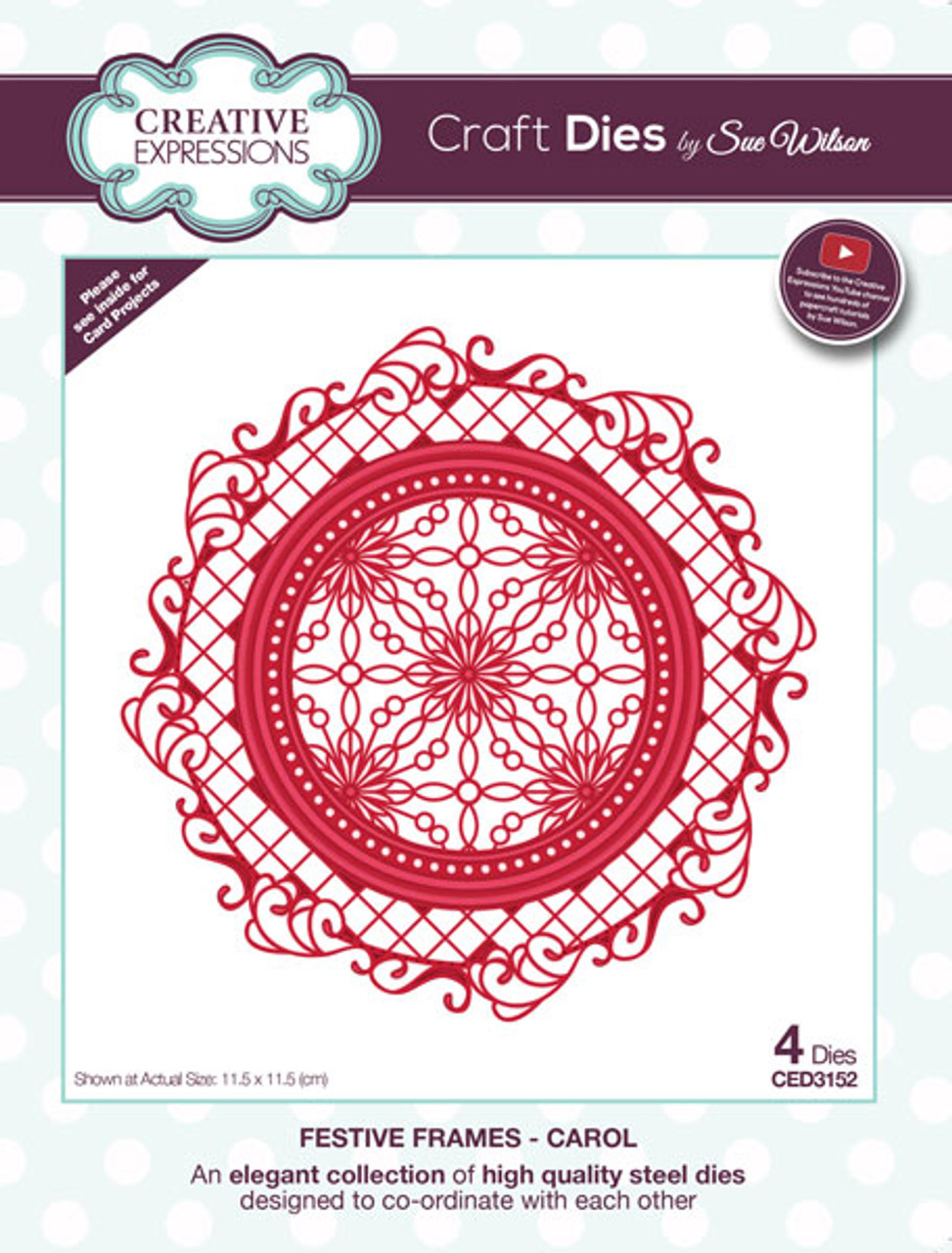 Sue Wilson Festive Collection - Carol CED3152