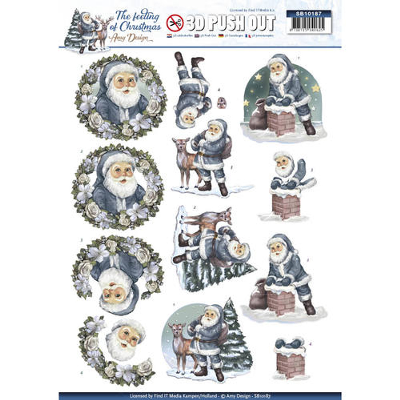 3D Die-Cut Sheet  Amy Design  - The Feeling of Christmas - Santa SB10187