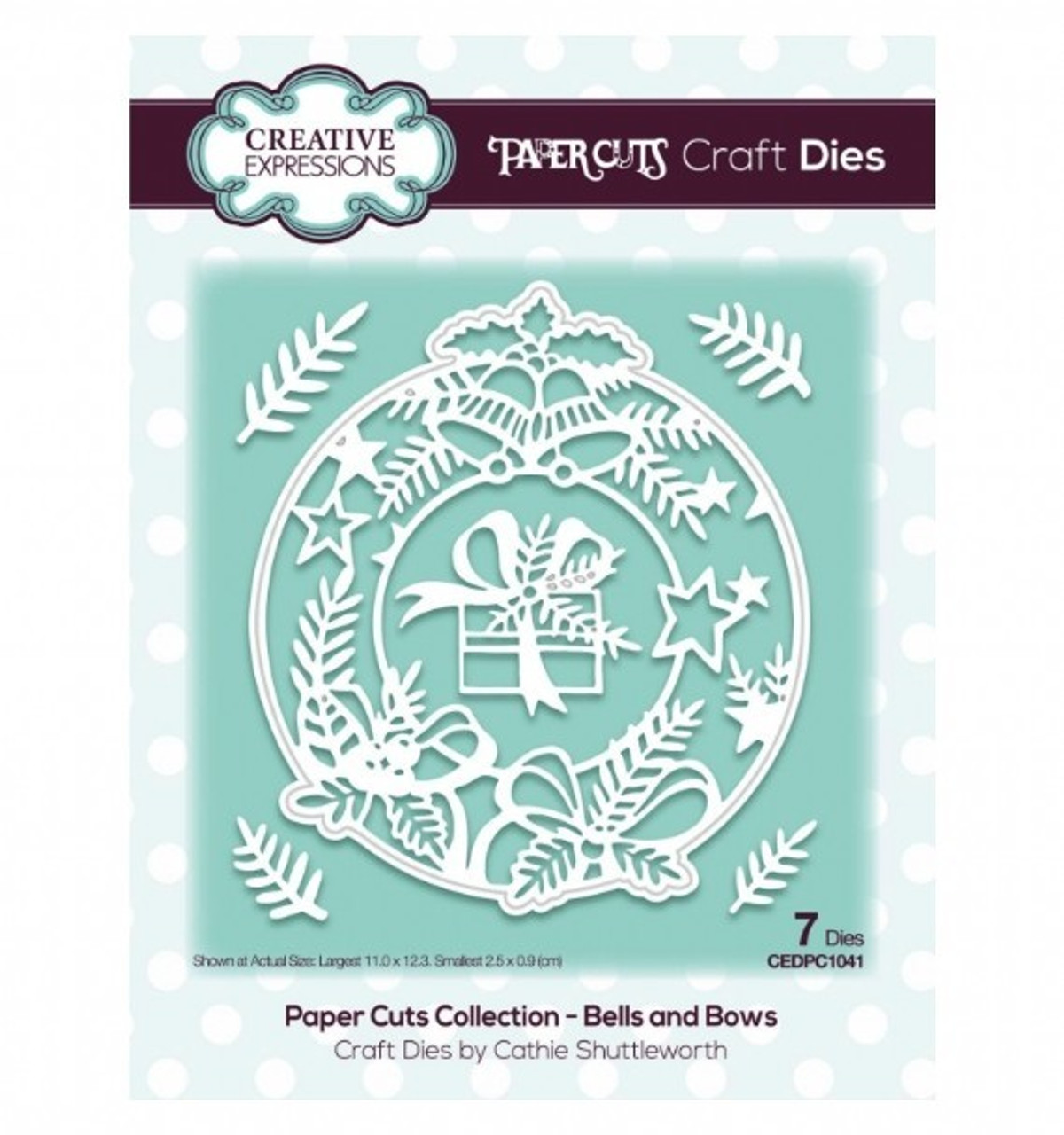Creative Expressions Paper Cuts Collection Die - Bells & Bows CEDPC1041